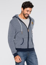 Cardigan regular fit, John Baner JEANSWEAR, Bianco / blu scuro
