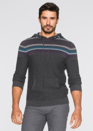 Pullover con cappuccio regular fit, bpc bonprix collection, Grigio melange