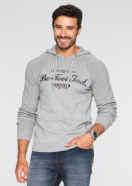 Pullover con cappuccio regular fit, bpc bonprix collection, Grigio chiaro melange