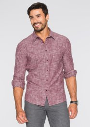 Camicia in flanella regular fit, bpc bonprix collection, Rosso acero melange