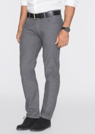 Pantalone elasticizzato regular fit straight, bpc bonprix collection, Nero / grigio fantasia