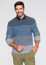 Pullover regular fit, bpc bonprix collection, Azzurro melange