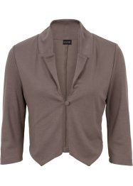Blazer in felpa corto, BODYFLIRT, Marroncino scuro