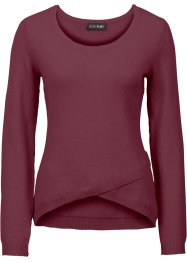 Pullover incrociato, BODYFLIRT, Bordeaux