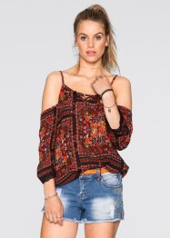 Blusa, RAINBOW, Nero / fantasia multicolore