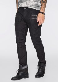 Jeans super elasticizzato slim fit straight, RAINBOW, Nero denim