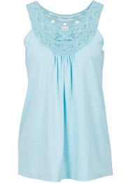 Top con pizzo, BODYFLIRT, Blu pastello