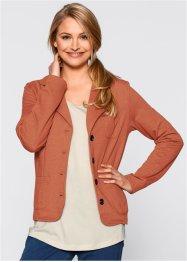 Blazer in felpa, bpc bonprix collection, Cannella