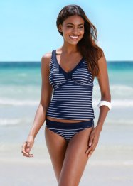 Top per tankini, bpc bonprix collection, Blu scuro / bianco