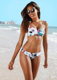 Bikini con ferretto, bpc bonprix collection, Bianco fantasia