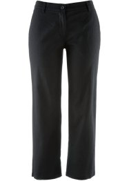 Pantalone 7/8 in misto lino, bpc selection, Nero