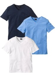 T-shirt con scollo a V (pacco da 3), bpc bonprix collection
