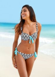 Bikini con ferretto, bpc bonprix collection, Nero / bianco