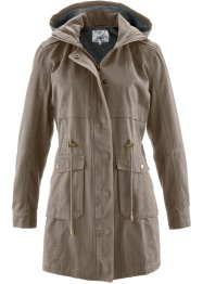 Parka foderato in jersey, bpc bonprix collection, Marroncino