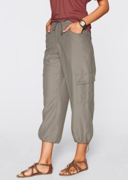Pantalone 7/8 (pacco da 2), bpc bonprix collection, Marroncino + bianco