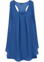 Top con volant, BODYFLIRT boutique, Blu