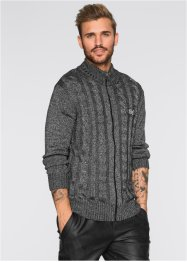 Cardigan slim fit, RAINBOW, Nero