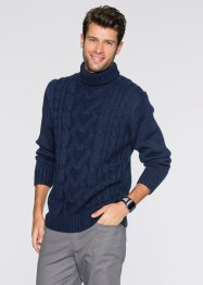 Pullover dolcevita regular fit, bpc bonprix collection, Blu scuro