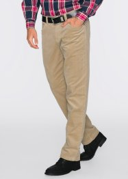 Pantalone termico in velluto elasticizzato regular fit straight, bpc bonprix collection, Beige