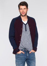 Cardigan regular fit, bpc bonprix collection, Blu / bordeaux melange