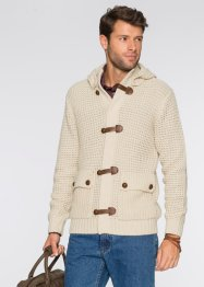 Cardigan con cappuccio regular fit, bpc bonprix collection, Beige