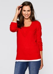 Pullover (pacco da 2), bpc bonprix collection, Fragola a righe + fragola