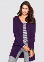 Cardigan lungo, bpc bonprix collection, Prugna