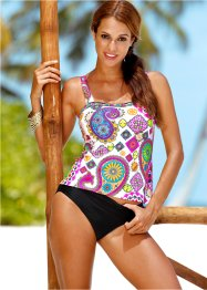 Tankini, bpc selection, Bianco fantasia