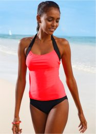 Tankini, bpc bonprix collection, Nero / arancione