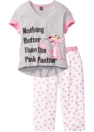 "Pigiama con pinocchietto ""Pink Panther"", bpc bonprix collection, Stampato"
