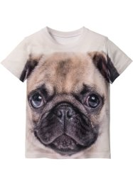 T-shirt con stampa 3D, bpc bonprix collection, Bianco stampato