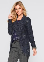 Cardigan con lurex, bpc selection, Marroncino / nero / oro