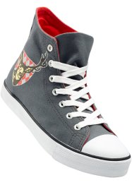 Sneaker alta, bpc bonprix collection, Grigio con cervo