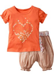 T-shirt + pantalone (set 2 pezzi), bpc bonprix collection