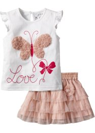 Maglia + gonna in tulle (set 2 pezzi), bpc bonprix collection