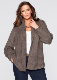 Cardigan, bpc selection, Marrone medio melange