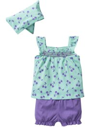 Top + shorts + fazzoletto (set 3 pezzi) in cotone biologico, bpc bonprix collection