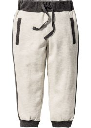 Pantalone in felpa, bpc bonprix collection, Ecru melange / antracite melange