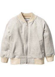 Giacca in felpa, bpc bonprix collection, Ecru melange / beige