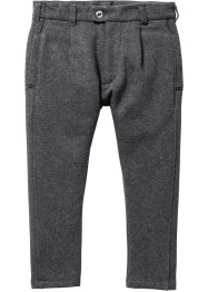 Pantalone in felpa con pieghe, bpc bonprix collection, Antracite melange