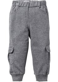 Pantalone in felpa, bpc bonprix collection, Grigio melange