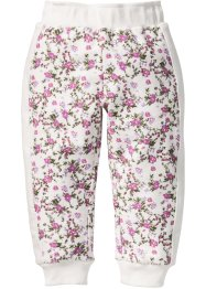 Pantalone in felpa fantasia, bpc bonprix collection, Bianco panna stampato