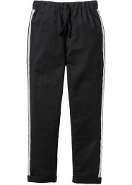 Pantalone in felpa con paillettes, bpc bonprix collection, Nero