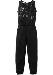 Tuta con paillettes, bpc bonprix collection, Nero