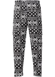 Leggings con tasche laterali, bpc bonprix collection, Nero / bianco fantasia etnica