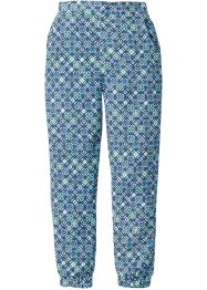 Pantalone fantasia loose fit, bpc bonprix collection, Bianco / blu reale fantasia