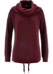 Pullover con coulisse, bpc bonprix collection, Rosso acero