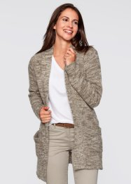 Cardigan, bpc bonprix collection, Bianco panna melange