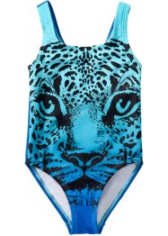 Costume da bagno bimba, bpc bonprix collection, Blu stampato