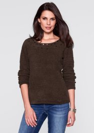 Pullover soffice, bpc selection, Marrone scuro